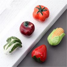 Ceramic Fruits Vegetable Handle Knobs Single Hole Furniture Cabinet Cupboard Wardrobe Drawer Door Knob Pulls Kids Room Decor()