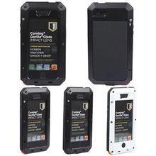Waterproof Dirt Shock Proof Case Cover Aluminum Metal Gorilla Glass FOR  5(China (Mainland))