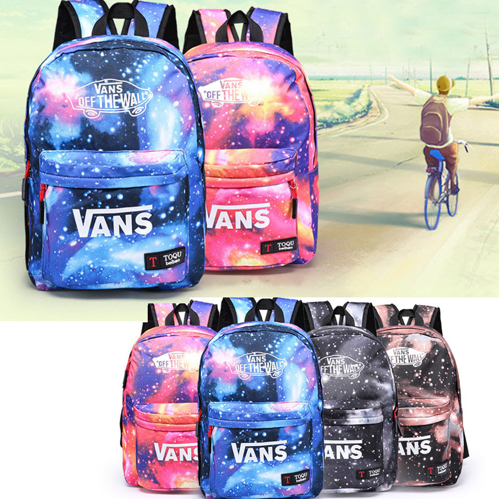 12 style School Youth Trend schoolbag 2015 new ladies female man shoulder bag backpack VANS Escolar bolsas mochila US Nina(China (Mainland))