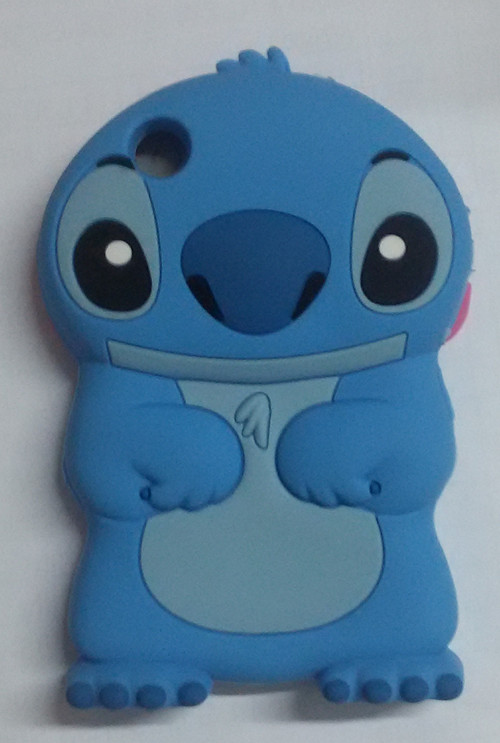 3D Lucky cartoon Stitch Soft Silicone Case Cover For BLACKBERRY 8520/9300(China (Mainland))