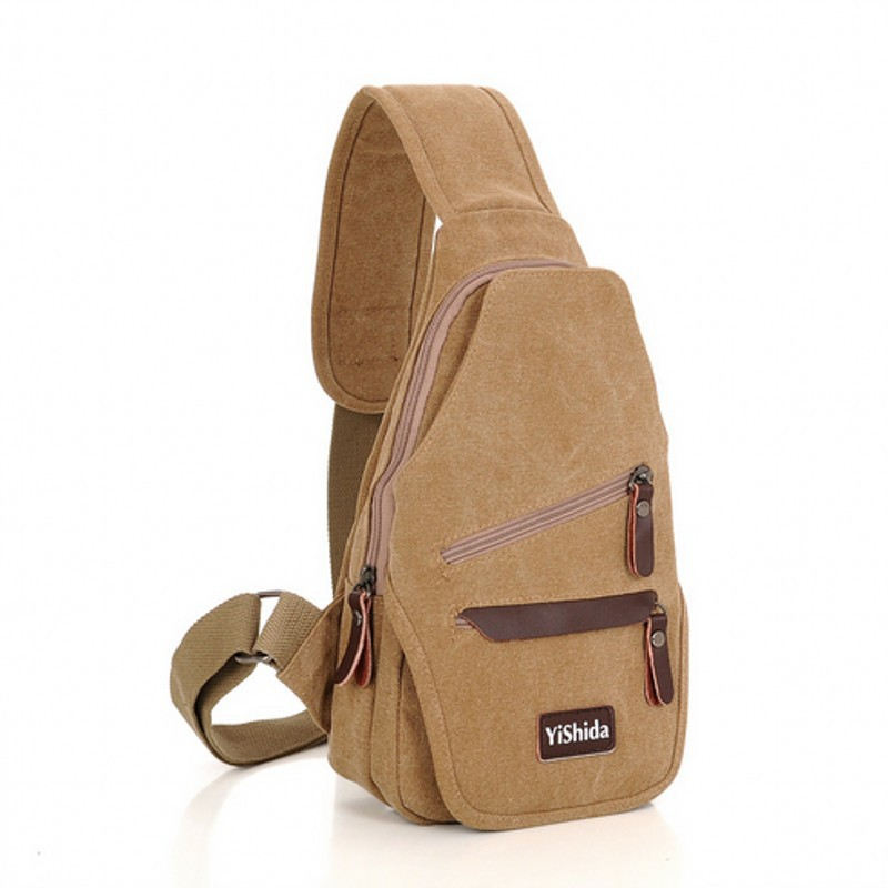 2015 new men's chest pack, Casual Male canvas bag, multifunctional outdoor sports bags,travel fashion shoulder bag,free shipping(China (Mainland))