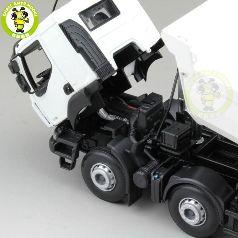 1/43 Norev Renault Kerax Benne 2008 Diecast Mannequin Automobile Truck White