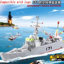 learning & education Kazi 84029 Missile Destroyer Military Building Block Set 897pcs Figures Bricks Boys Toys leg0 compatible
