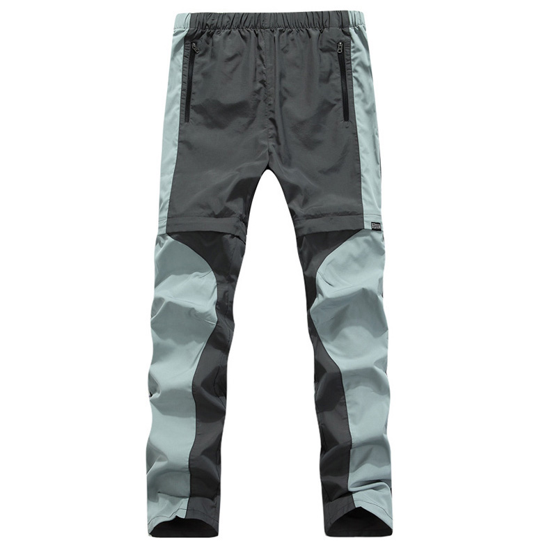 style sports outdoor breathable stretch pants quick-drying male splicing two removable long mountaineering camping trip - Sunshine group Ltd store
