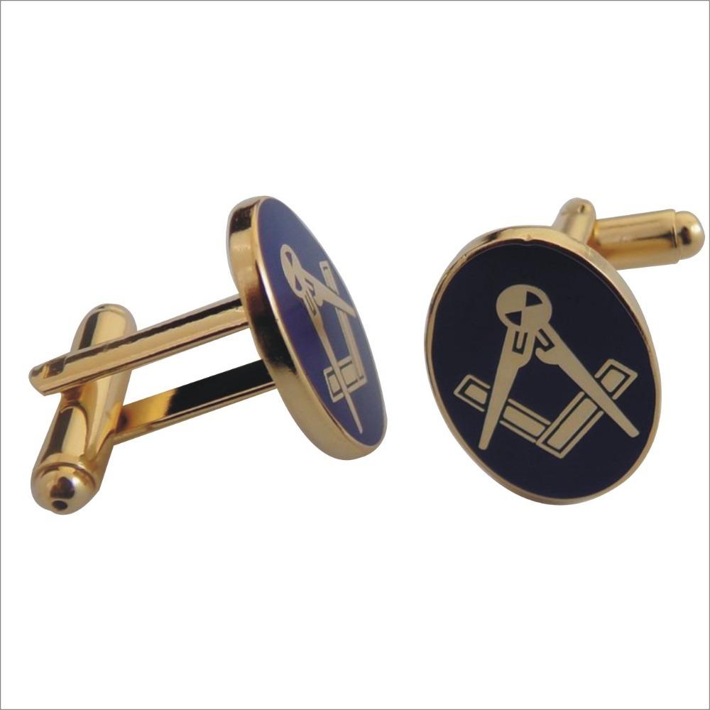 Free Shipping Masonic Gifts Items Oval Shaped Masonic Cufflinks(China (Mainland))
