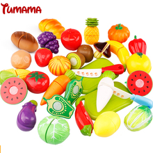 Tumama 8 Pieces/Set Play Toys for Children Food Baby Plastic Hobbies toys kitchen for kids Fruit and Vegetables(China (Mainland))