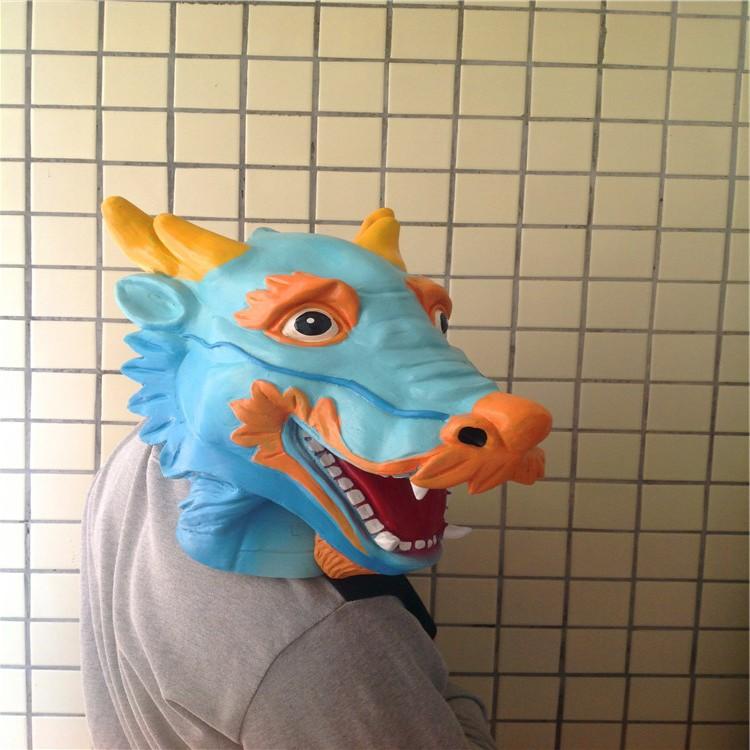 Cool new Halloween mask caps dragon head latex animal - Shenzhen xuanku trading Co., LTD store