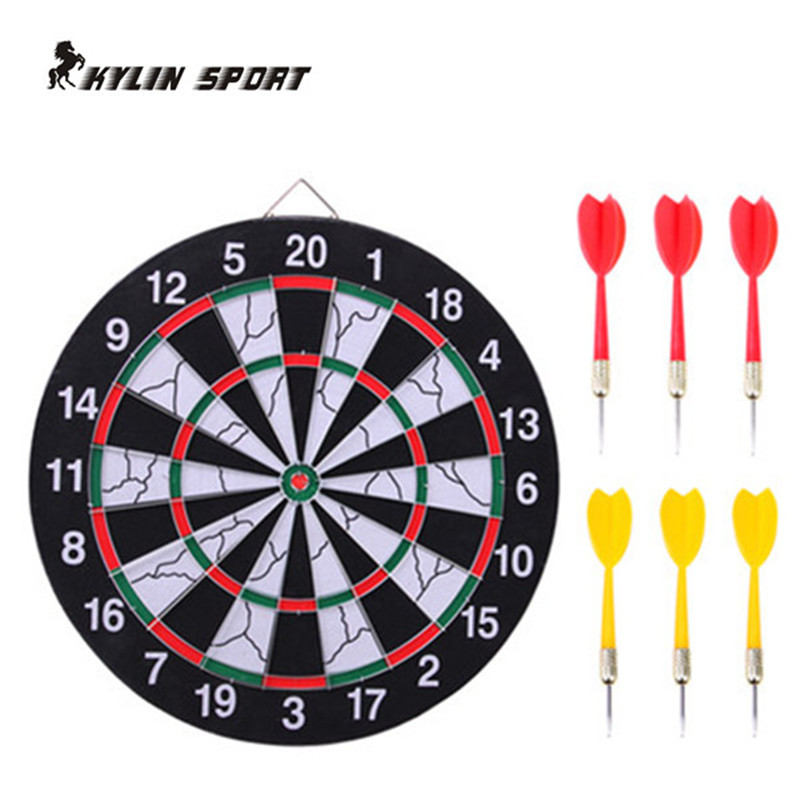 Купить Спорт и развлечения  new indoor 15 inch sport double target dart magnetic flocking dartboard board double thickening for wholesale and freeshipping None