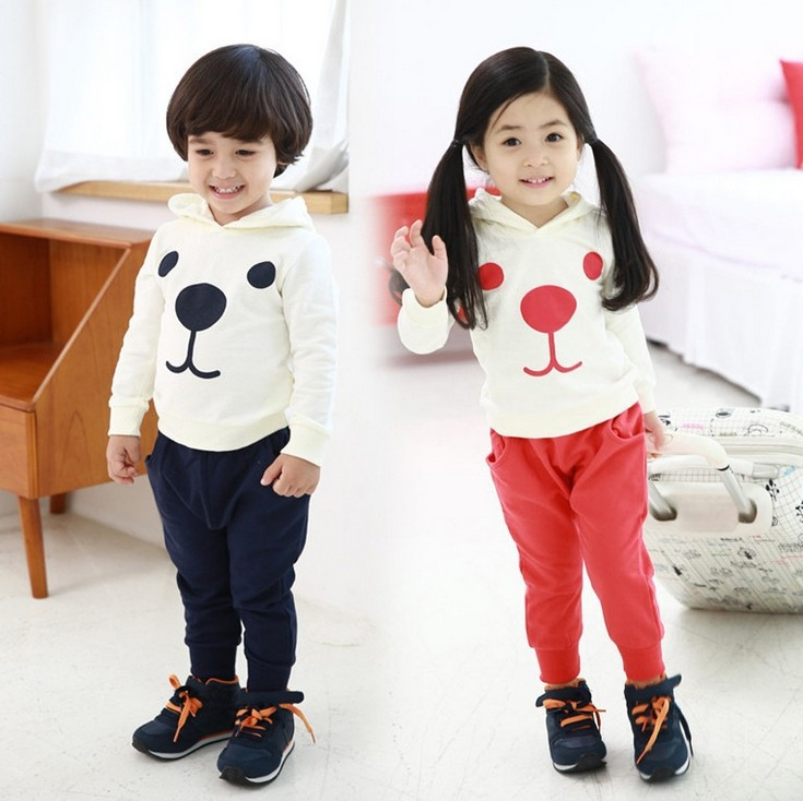 Autumn spring boys girls pure cotton bunny suit Clothing Kids Costumes kids baby clothing set T-shirt+pants - Online Store 923589 store