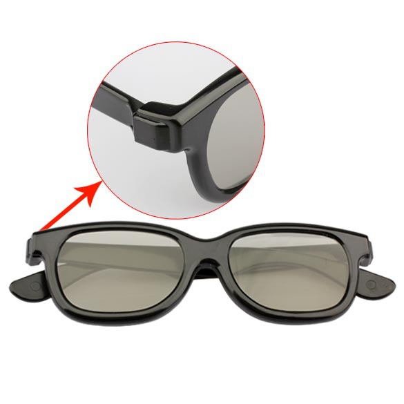 Cu3 Polarized 3D Glasses Black Movie for Don t Flash Screen TV Special