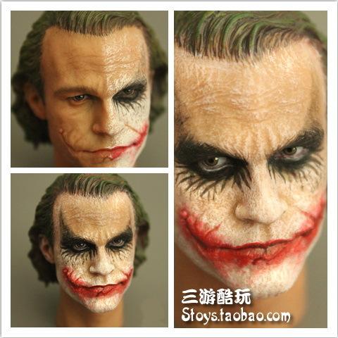 "Здесь можно купить  1/6 scale Head carving for 12"" action figure doll,Batman Heath Ledger JOKER Clown headsculpt.doll head.Dolls Accessories  Игрушки и Хобби"