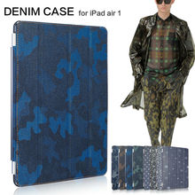 Denim cases for Apple iPad air case smart cover for iPad air 5 for ipad5  jean design magnetic stand