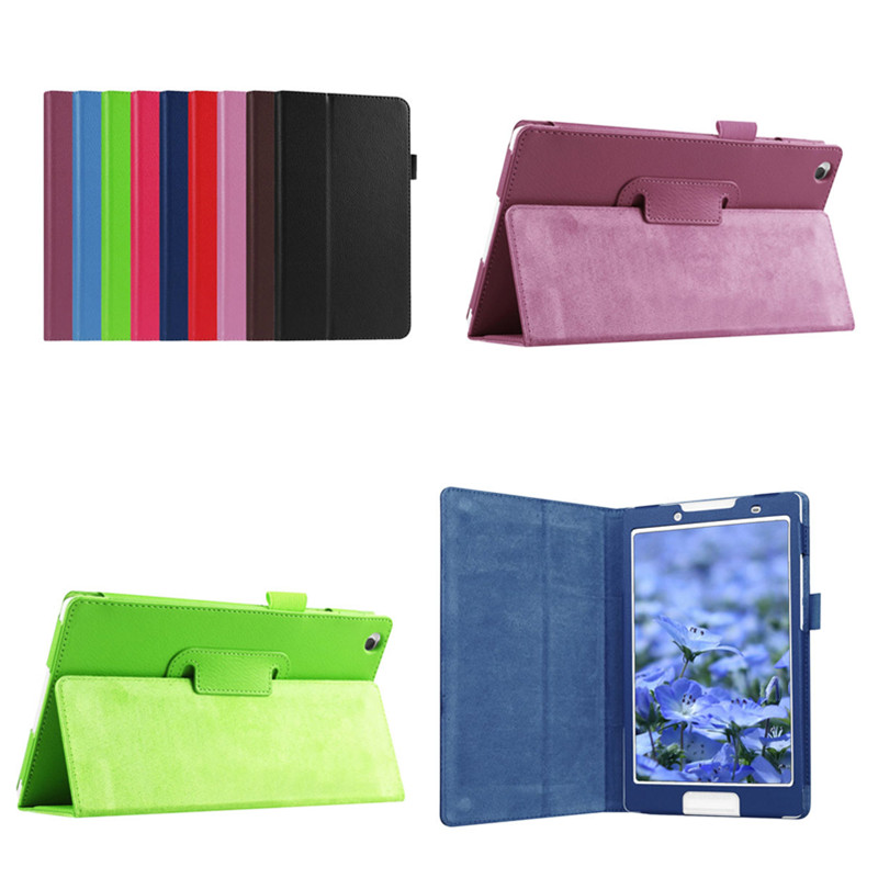 Tab3 8 Protective Bag Flip PU Leather Book case For Lenovo Tab 3 8 8.0 inch TB3-850F / TB3-850M Tablet PC Litchi Stand Cover