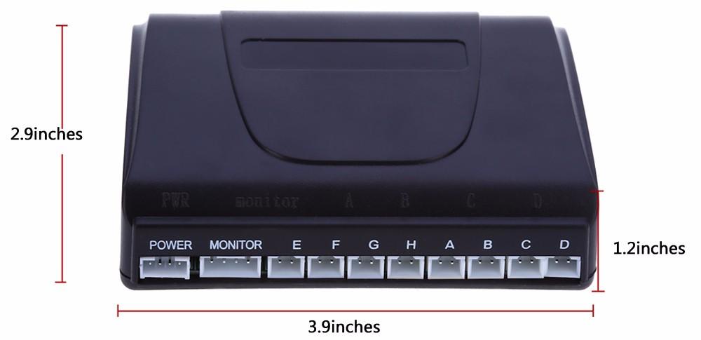 Купить Детектор автомобиля Автомобильные СВЕТОДИОДНЫЕ Датчик Парковки Комплект Дисплей 8 Датчики 22 мм 12 В для Всех автомобилей Обратный Помощи Резервного Радар Monitor система