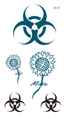 Temporary  Waterproof tattoo sticker sunflower logo