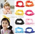 Free Shipping!2015 New Girls Fashion Women Solid Color Wide BOHO Headband Lace Hair Band Twist Head Wraps Turban Bandanas