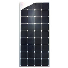 Promotion 110W solar panel with frame, Sun Power cells, charging for 12V battery solar home system.
