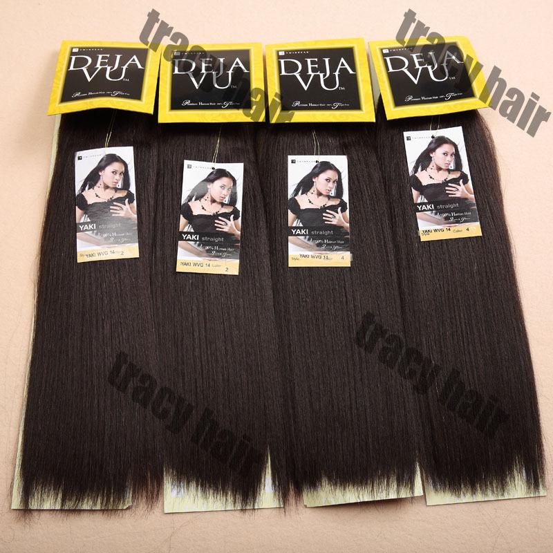 1PC+Free Shipping DEJAVU Yaki Wave 60%Indian Hair Mixed 40%Synthetic Hair Extension Mixed Hair Exten