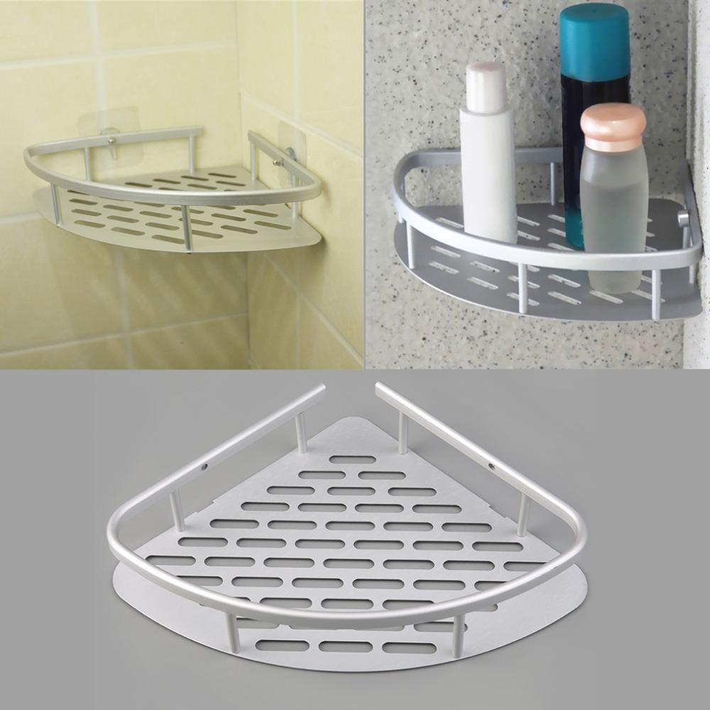 1 pcs aluminum shower wall mount corner shelf holder bathroom storage organizer kit set for Corner shelves for bathroom wall mounted