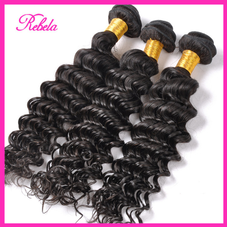 Vip Beauty Hair Malaysian Deep Curly Virgin Extension Bundle Deals karida Wave - Rebela hair products Co.,Ltd store