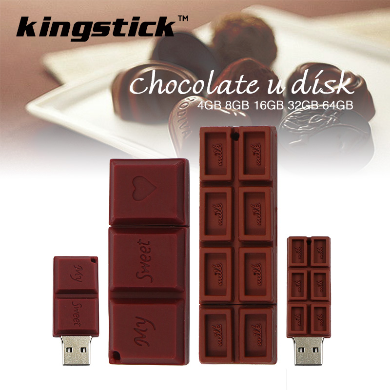 High quality thumbdrive Chocolate Silicone USB Flash Drive 64gb 32gb U Disk Memory Stick 16GB 8GB 4GB pendrive usb2.0 pen drive(China (Mainland))