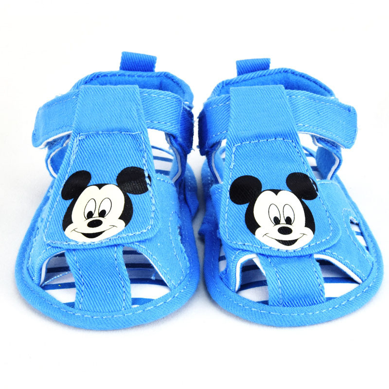 Sapato Baby Boys Sandals Children Kids Mickey Summer Beachwear Shoes Infant Soft-soled Footwear First Walkers Scarpe Neonata(China (Mainland))