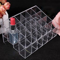 2017 Hot Selling Lipstick Shelf 24 Grid Squares Holder Display Showcase Stand Cosmetic Organizer Makeup Case