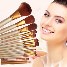 12 pcsSet New Women Professional Cosmetics Make Up Brushes For Powder Foundation Eyeshadow Lip Pincel Maquiagem Free Shipping