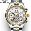 Original GUANQIN Watch Men Quartz Watch Waterproof Shockproof Watch Men 2016 Luminous Luxury Wrist Watch Male Clock Wristwatches