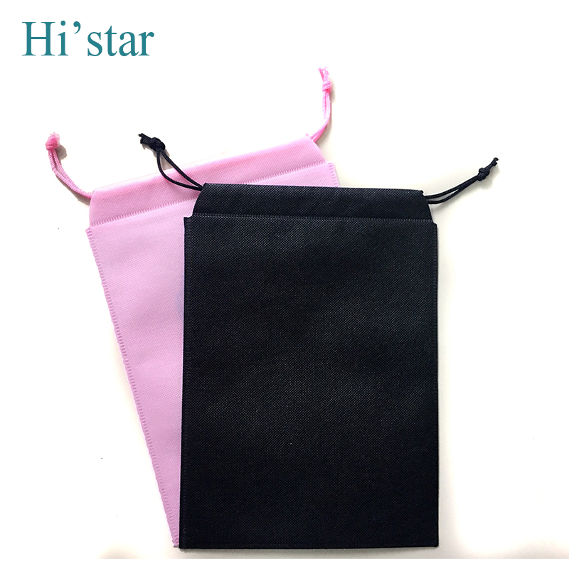 50 pieces drawstring closure non woven bag, hot sell shopping bag for shoe / clothes dust proof(China (Mainland))