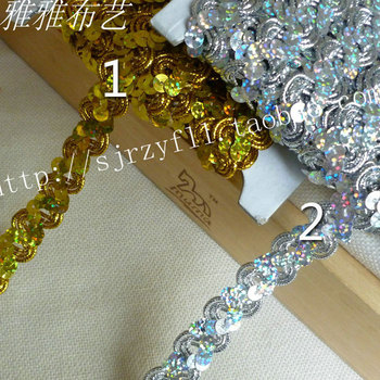 Wholesale Supplier S Type Curve Gold Silver Lace Trim For