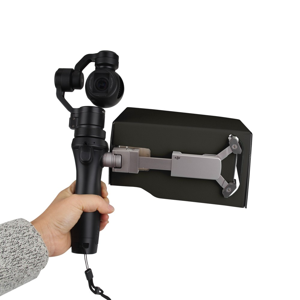 DJI Osmo Handheld 3-Axis Gimbal Accessories Updated Parts 5.5 Inch Foldable Mobile Phone Sunshade Sun Hood Black