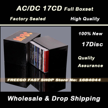 High Quality AC/DC CD 17 Disc Complete Box Set with Albums Free Shipping(China (Mainland))