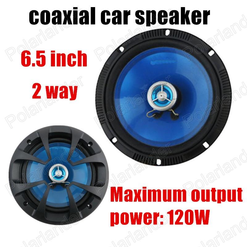 a pair Blue 6.5 inch Car speaker 2 way 2x120W Coaxial Car Speaker car audio speaker sound system Free Shipping hot sale <br><br>Aliexpress