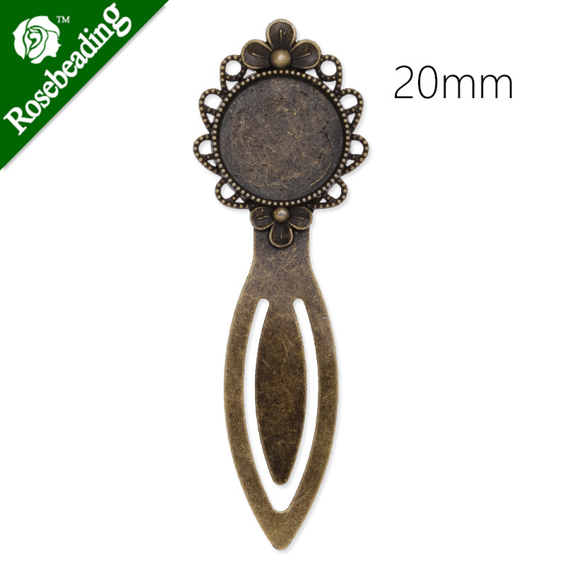 20mm Round Setting Bezels Cameo Mountings Tray Base,Vintage Antiqued Bronze Bookmark,length:85mm,10pcs/lot-C3930<br><br>Aliexpress