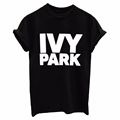 2017 Spring summer T shirt Tee print letter IVY PARK man male fmale woman O neck
