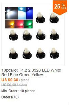 Источник света для авто W5W T10 10 T10 W5W /12v