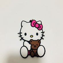 Chegada nova Olá Kitty PVC Peças & Acessórios pingente ornamento decoração saco unisex pingentes cadeia chave chaveiro cadeia(China)