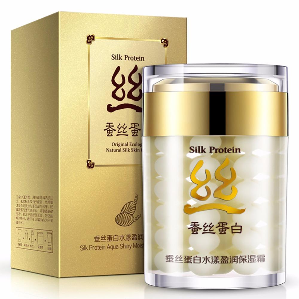 Silk Protein Deep Moisturizing Face Cream Shrink Pores Skin Care Anti Wrinkle Cream Face Care Whitening Cream 60g