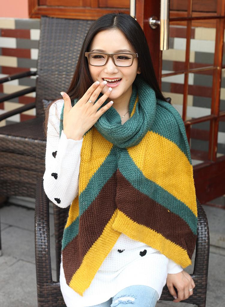 Manufacturers, wholesale scarves Korean winter spell hit color color female Korean couple models FHM bevel selling wool(China (Mainland))