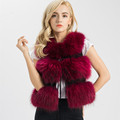 5 Colors Real Fur Vest Women Genuine Raccoon fur gilet waistcoat winter new fashion S1150SJ