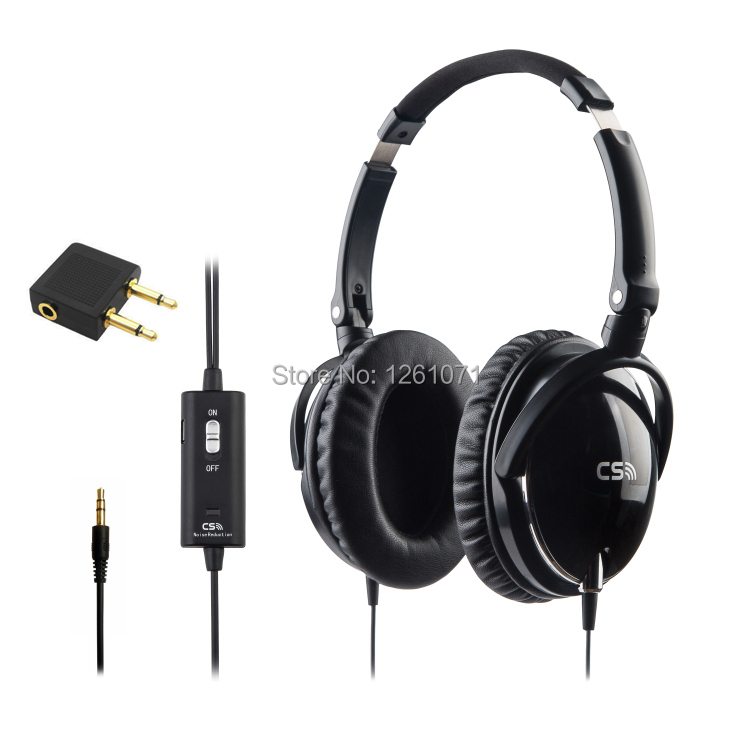 Active Noise Cancelling Headphones High Performance Monitor DJ Headphone Over Ear Foldable Noise isolation Airline Headset(China (Mainland))