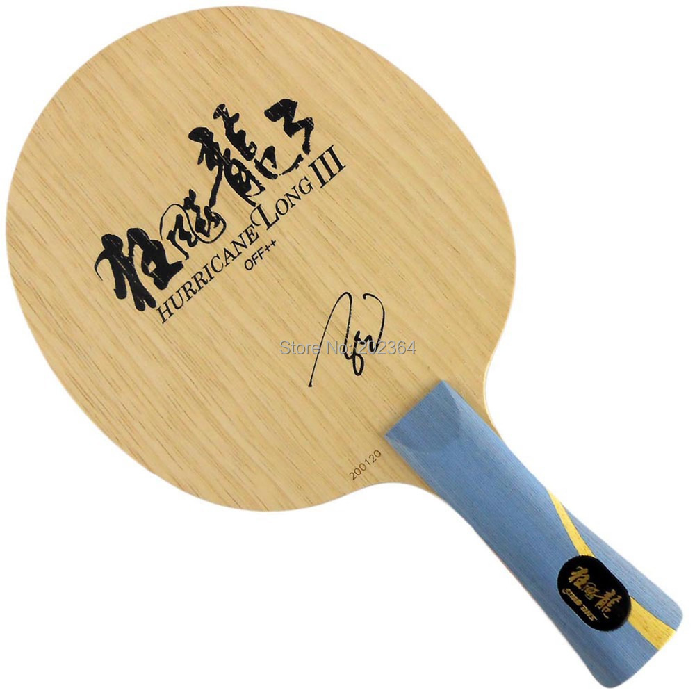 Dhs hurricane long iii off table tennis blade shakehand for pingpong racket in table tennis for Table tennis 6 0