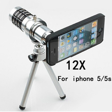 Buy mobile phone 12x Camera Zoom optical Telescope cellphone telephoto Lens apple iphone 5 5s 6 6s 6plus 7 7plus,10pcs/lot for $146.73 in AliExpress store