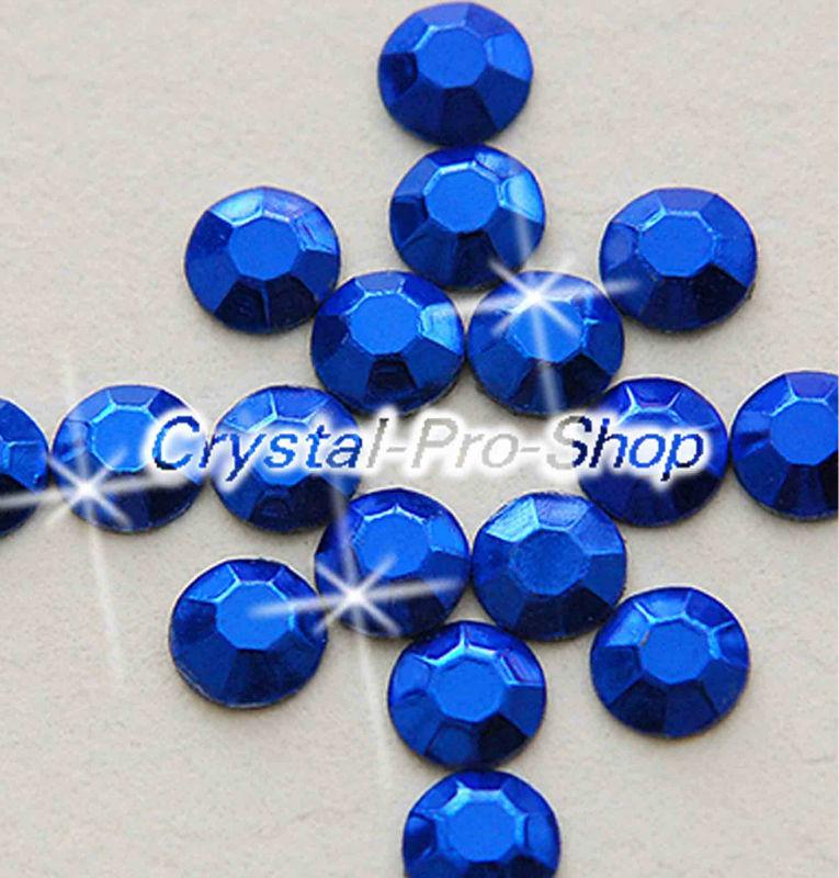 14400 pieces Blue 2mm 6ss ss6 Faceted Hotfix Rhinestuds Iron On Round Beads new Aluminum Metal Design Art DIY (u2m-Blue-100 gr)(Hong Kong)