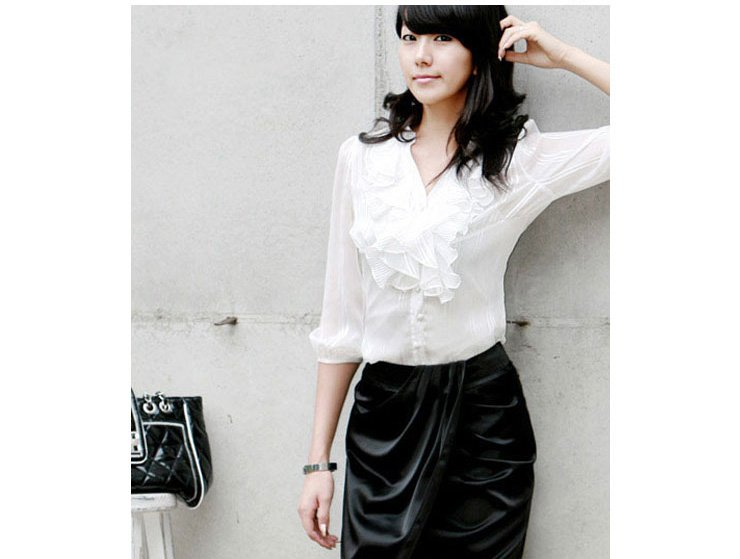 Images of Women S White Shirts And Blouses - Reikian