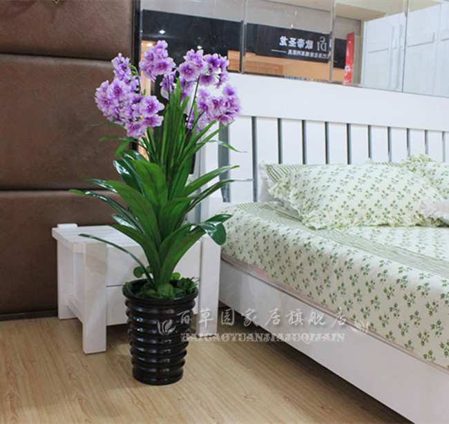 Artificial Flowers Artificial Plants Potted Bonsai Tree Fake Plastic Flowers Decorated The