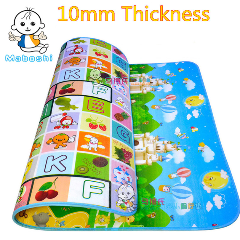 Authorized Authentic Maboshi 1cm thickness Baby Play Mat Fruit Letter Castle Kids Children Carpet Crawling CM-001 - Cute Zone store