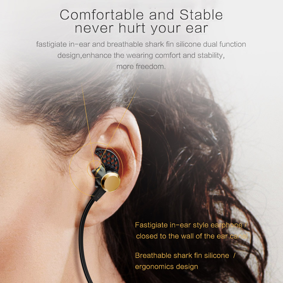 TTLIFE Wireless Noise Cancelling Bluetooth 4.1 Earphones Magnetic Design Earbuds Sports Sweatproof In Ear Headphone with Mic