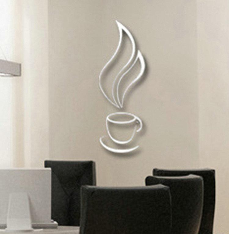 Muurstickers Keuken Koffie : 3d muursticker nieuwe koffie thee kop bel koele diy muurstickers